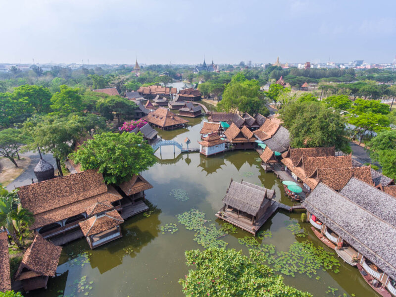 The floating market at Ancient City